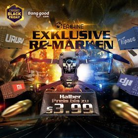 Cyber Monday Black Friday - Banggood Exclusive RC Marken Coupon